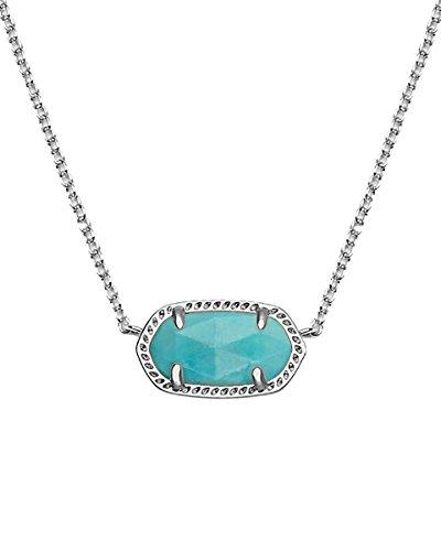 Kendra Scott Signature Elisa Pendant Necklace in Turquoise & Silver