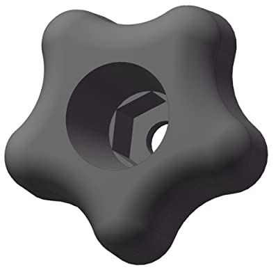 "Innovative Components ANH2-HEX5S3A 1.75"" Snap Lock Star knob hex hole to accept 5/16"" nuts and bolts, black pp (Pack of 10)"