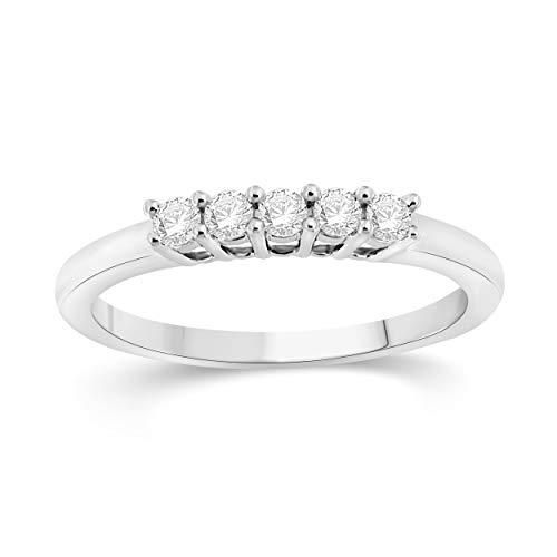 NATALIA DRAKE 10KT White Gold 0.25cttw 4 Stone Bridal Diamond Ring (SZ 7) ()