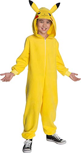 Rubie's 700246_M Pokémon Deluxe Child's Pikachu Costume, Small, Yellow