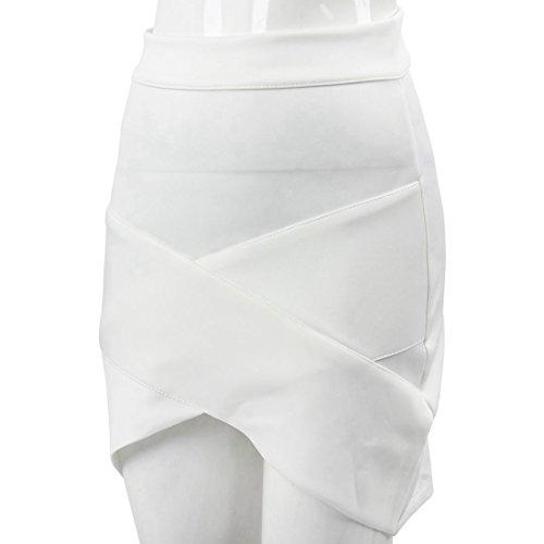 femminile Pannello sottile elegante donne esterno della signora allunga Bodycon delle TOOGOO Nero esterno il XS Bianco casuale R pannello sexy sottile del gqn6xC5nwz