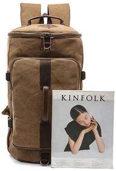 Khaki 1 Backpacks For leisure Outdoor Travel Bag Canvas Backpack Casual Rucksack for Men