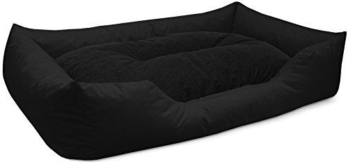 BedDog lit pour chien MIMI, noir, XXL env. 122x87 cm,Panier corbeille, coussin de chien
