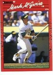 Amazoncom 1990 Donruss Baseball Card 185 Mark Mcgwire Mint