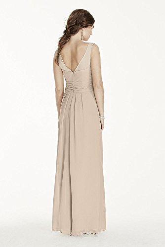 Juniper Dress Chiffon Style Bridal David's Illusion Tank W10841 Crinkle Long Bridesmaid T0gwqv