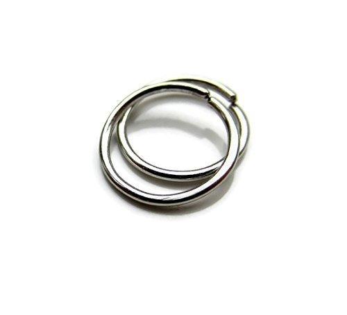 Platinum Small Hoop Earrings for Sensitive Ear Lobe Cartilage Handmade One Pair 20G 8mm by DesignedbyGrace