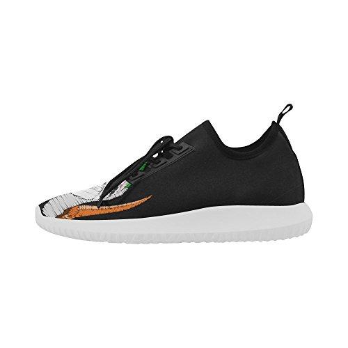 Interestprint Beau Papillon Sur Jeans Dauphin Ultra Léger Chaussures De Course Pour Les Femmes Cigogne Oiseau