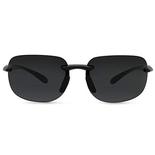 In Style Eyes Lovin Maui Wrap Premium Polarized Bifocal Sunglasses black ()