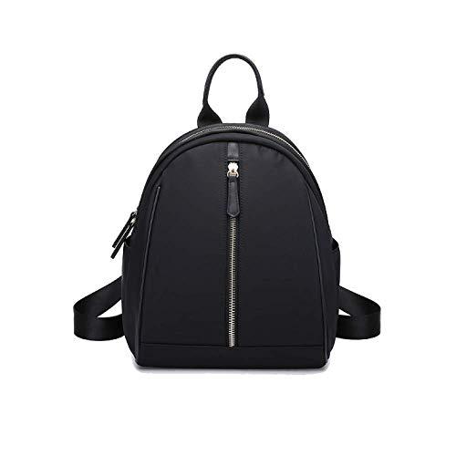Color Negro Trend Coreano la Mochilas Señoras Bags Simple tamaño Un Personalidad tamaño Moda de Casual Eeayyygch Travel Wild 6OwF7xEq7R