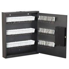 * Hercules Key Cabinets E-Lock, 120-Key, Steel, Silver Vein