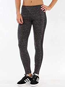 adidas Originals Women's 3-Stripes Leggings, Dark Grey Heather, X-Large