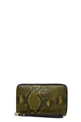 Marc Jacobs Block Letter Snake Zip Phone Wristlet, Yellow Snake Multi, One Size