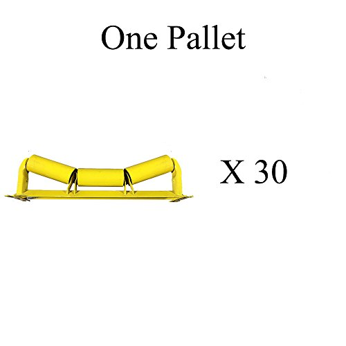 "C5-20E-30, C20-30 One Pallet (X30) of Trougher Equal Idlers – 20 Degrees, 5"" Diameter, 30"" Belt Width by AIS Construction Equipment"