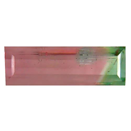 0.95 ct OCTAGON (11 X 3 MM) BRAZILIAN BI-COLOR TOURMALINE LOOSE GEMSTONE Bi Color Tourmaline Gem