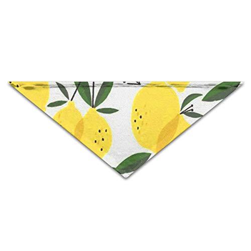 OLOSARO Dog Bandana Lemon Pattern Triangle Bibs Scarf Accessories for Dogs Cats Pets Animals -
