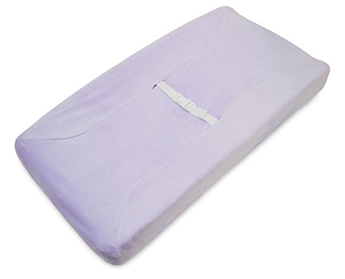 Babyhaven Soft Chenille Contoured Changing Pad Cover, 2 Pack, Lavender - Chenille Contoured Changing Table Cover