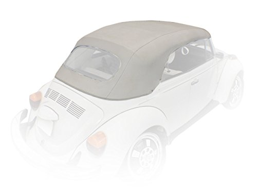 VW Convertible Top, White Pinpoint Vinyl, Late Model Beetle Convertible and Super Beetle Convertible