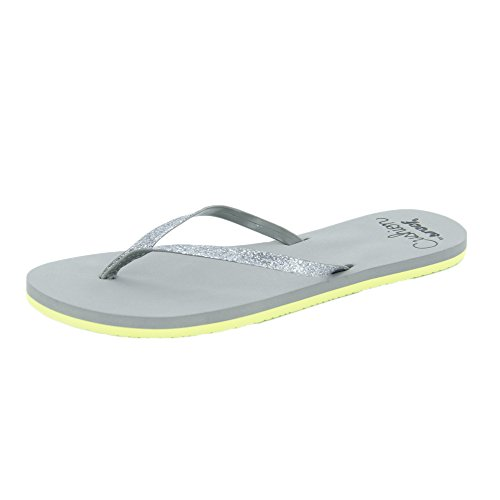 Reef Cushion Glitz Womens Sandals Grey Yellow