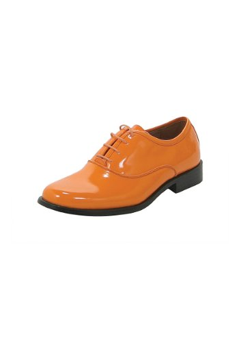 Orange Tuxedo Adult Costumes (FUN Costumes unisex-adult Orange Tuxedo Shoes Small 8-9)
