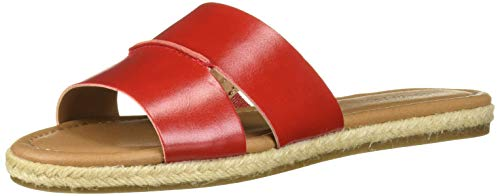 Aerosoles Women's Back Drop Flat Sandal, Red 8.5 M US