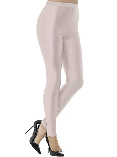 Lycra Legging Ankle - jntworld The Woman Stretchy Polyester Spandex Lycra Full Ankle Color Legging (30 Colour Choice) (Regular, Pearl)