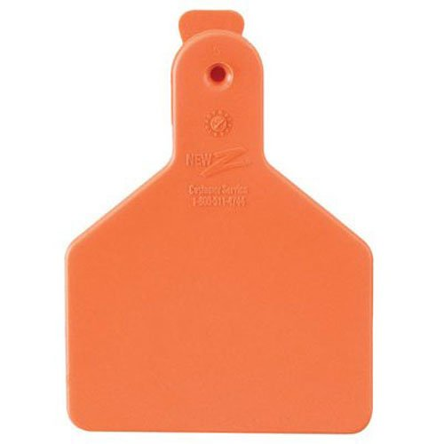Z Tags 25 Count 1-Piece Blank Tags for Calves, Orange