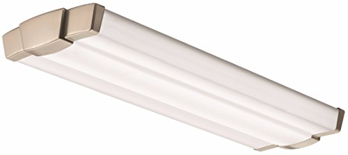 Lithonia Lighting Brushed Nickel 2-Ft Flush Mount, 3000K, 25W, 2000 (Retro Flush)