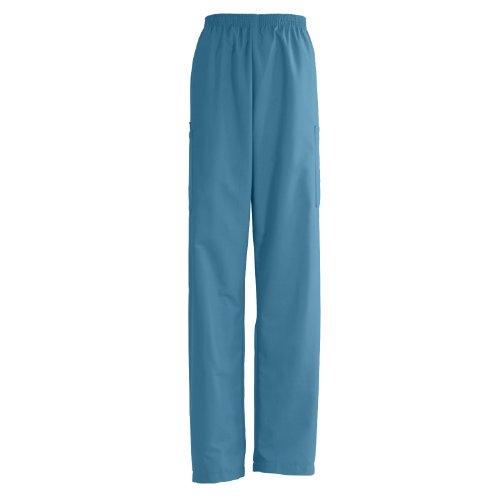 isex Elastic Waist Cargo Scrub Pant, XX-Large, Peacock (Medline Angelstat Ladies Elastic)