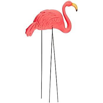RINCO Large Pink Flamingo 3 Dimensional Yard Ornaments