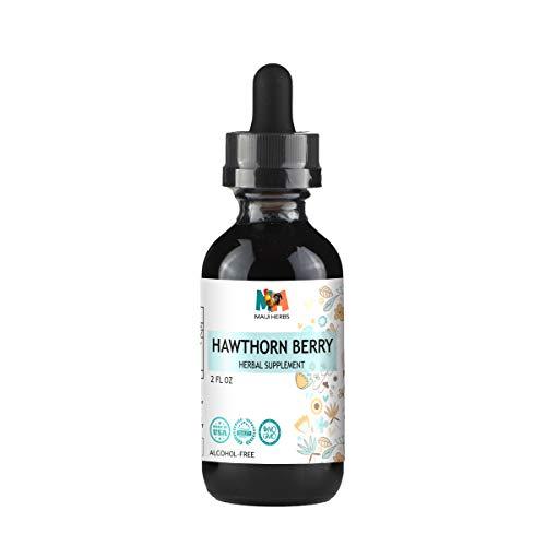 Hawthorn Berry Tincture Alcohol-Free Liquid Extract, Organic Hawthorn Berry (Crataegus Laevigata) 2 fl oz