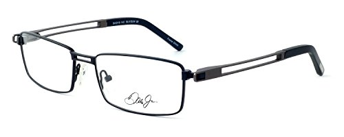 Dale Earnhardt Jr. 6782 Designer Reading Glasses in Black-Gunmetal. Custom made using high quality eyeglass frames and prescription reader lenses. - Made Glasses Custom Prescription