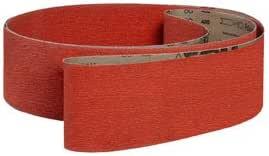 VSM 126437 Abrasive Belt Fine Grade Cloth Backing Pack of 10 220 Grit 3-1//2 Width Silicon Carbide 15-1//2 Length Black