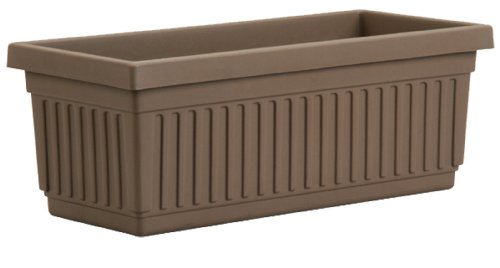 Akro-Mils VNP18000E21 Venetian Flower Box, Chocolate, 18-Inch