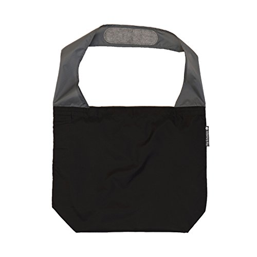 FLIP AND TUMBLE – Premium Reusable Grocery Bag - perfect Shopping Bag, Beach Bag, Travel Bag, Black