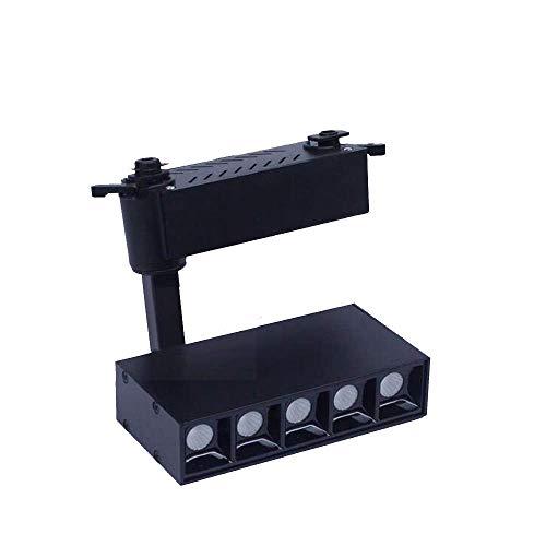 (Spotlight, 5x2w Led Track Light Dimmable 110v 220v with Led White Light Rectangular Adjustable Flame Retardant Black (Color : 5x2wwarmwhite))
