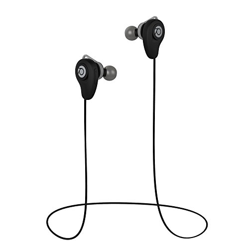 Rowkin Pulse Wireless Headphones, Bluetooth Earbuds, Stereo Hands-Free Headset with Built-in Microphone & Noise Reduction Earphones for Sports, Running, Android, Samsung, and iPhone. (Black)