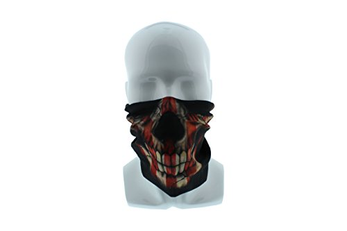 Redneck Convent American Flag Patriotic Skull Seamless Wide Tube Bandana Balaclava Face Mask - Paintball, Ski, Dust, Costume