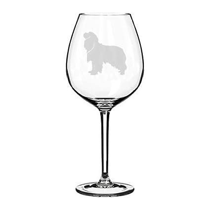Wine Glass Goblet Cavalier King Charles Spaniel 17 oz Stemless