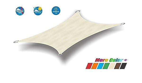 CAIJUN Velas De Sombra Malla Sombra Rectángulo Protector Solar 95% Impermeable Pérgola Toldo del Coche, 3 Colores, 20 Tallas (Color : B, Size : 2x3m): Amazon.es: Hogar