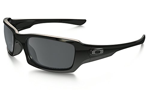 Oakley Fives Squared Sunglasses Polished BLK / BLK Irid. Pol. & Care Kit - Fives Squared Oakley Polarized