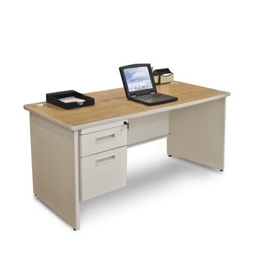 Single Pronto - Pronto Computer Desk with Left Single Pedestal Size: 29