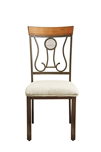 Ashley Furniture Signature Design - Hopstand Dining Room Side Chair - Harp Back - Set of 4 - Brown by Signature Design by Ashley
