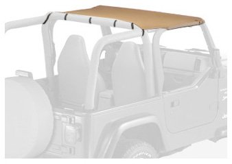 Bestop 52521-37 Strapless Bikini Spice Top for 97-02 Wrangler (using drill-in style windshield (Drill Windshield Channel)