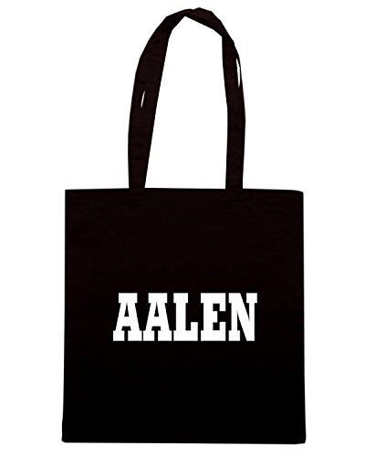 T-Shirtshock - Bolsa para la compra WC0799 AALEN GERMANY CITY Negro