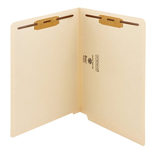 UPC 086486341165, Smead End Tab Fastener File Folder with Antimicrobial Product Protection, Shelf-Master Reinforced Straight-Cut Tab, 2 Fasteners, Letter Size, Manila, 50 per Box (34116)