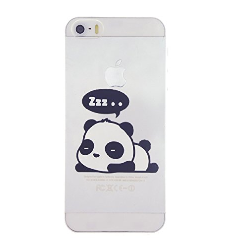 CaseBee® - Cute Sleeping Panda Print iPhone 5S Case - Perfect Gift (Package includes Screen Protector)