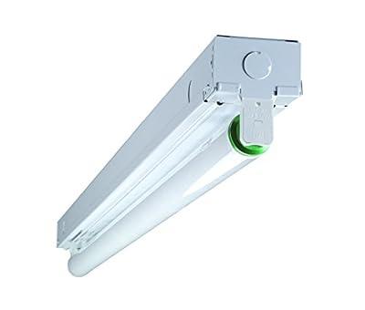 NICOR Lighting 3-Foot Single-Row T8 Fluorescent Linear Strip Light Fixture with Energy Saving Electronic Ballast (10391EB)