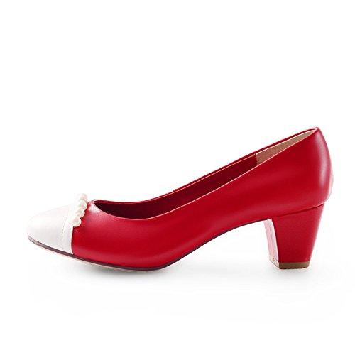Zapatos Moda primavera/Zapatos de mujer/Redondo crudo ligero moldeado con zapatos B