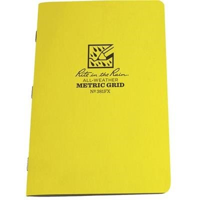 Rite in the Rain #381FX Metric Grid Notebooks, 4 5/8'' x 7'', Pkg. of 3 By Tabletop King by Tabletop King