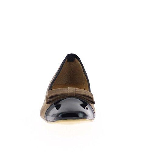 Großpumpen Größe zweifarbig schwarz Maulwurf bei 2cm Ferse